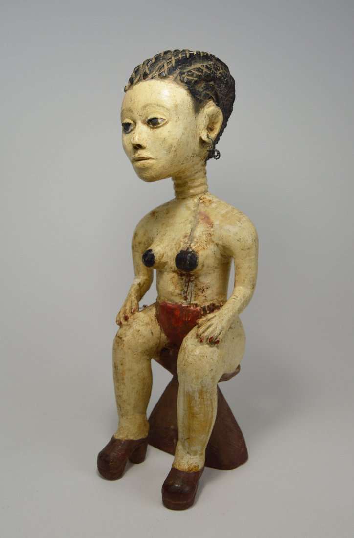 Gorgeous Old Fanti Female Sculpture, African Art