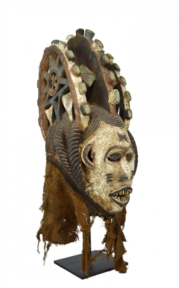 Igbo Maiden Mask with tall ornate superstructure