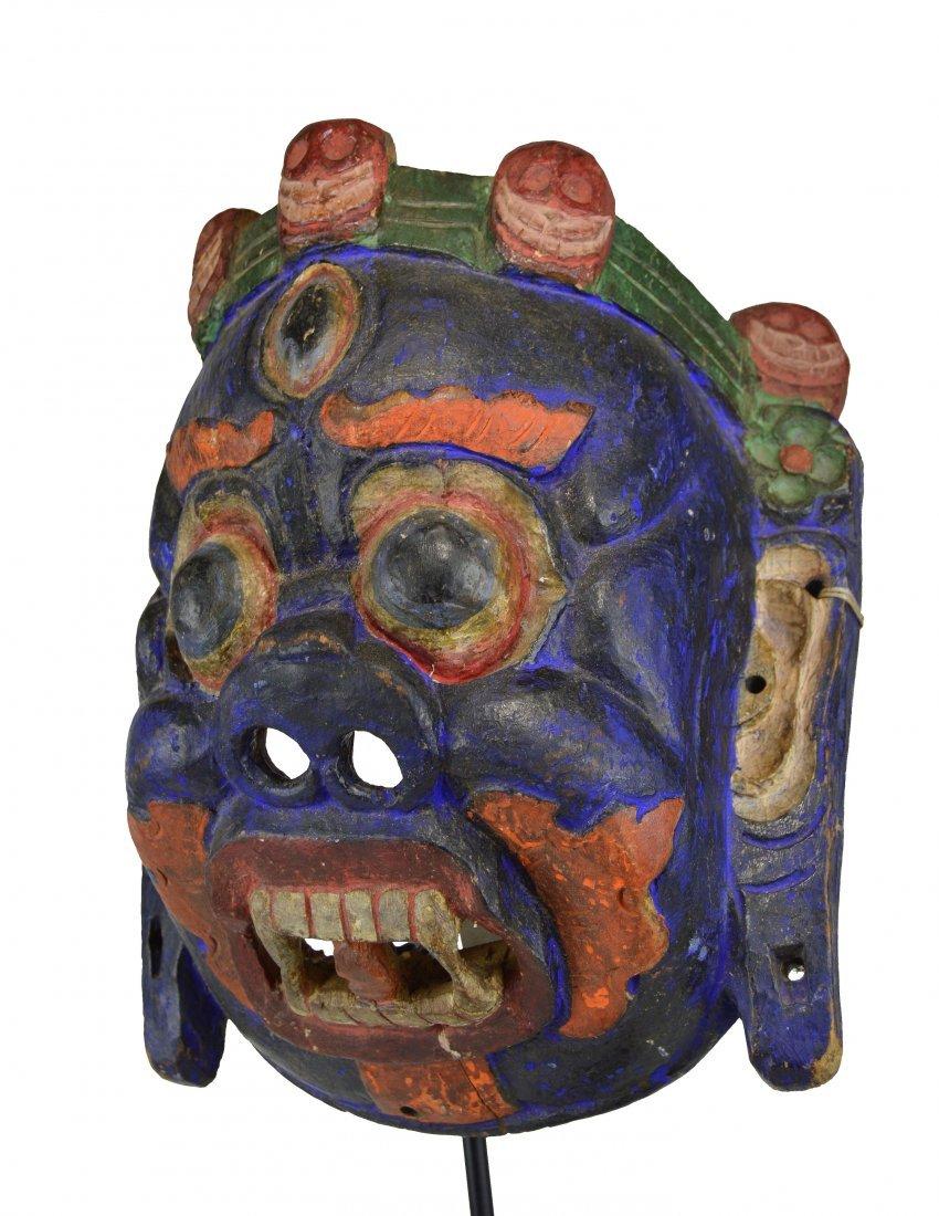 A Tibetan Wrathful Deity Mahakala Mask