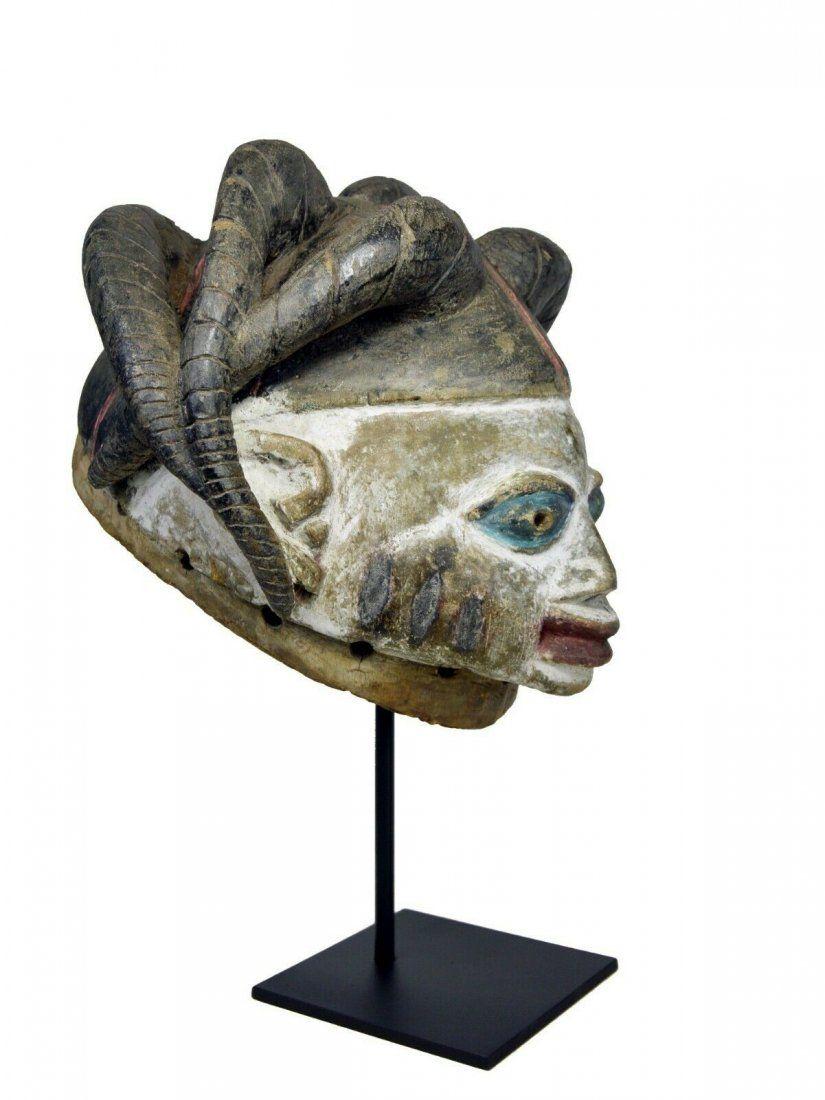 Old Yoruba Gelede Mask with Dreadlocks, African Art