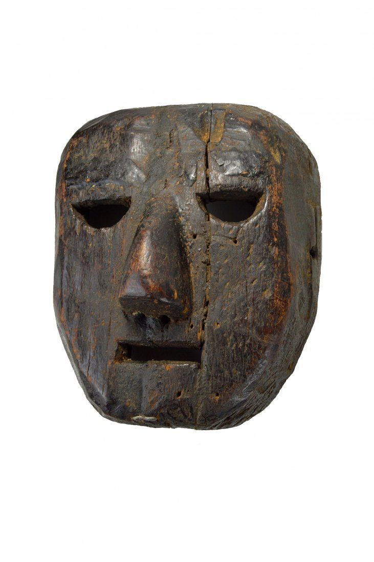 Primitive Old Mask from Tanzania, African Art