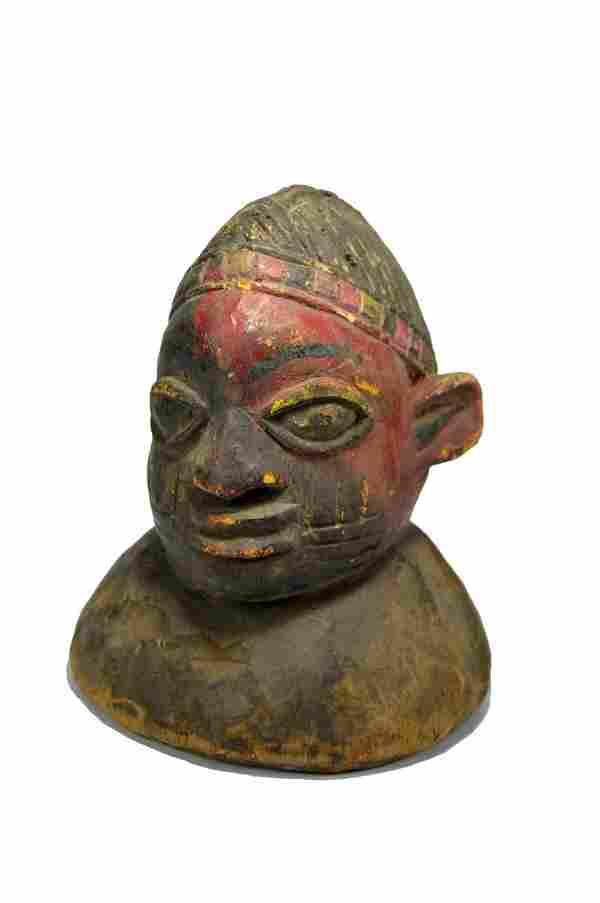 Old Yoruba Egungun Dance Crest, African Art
