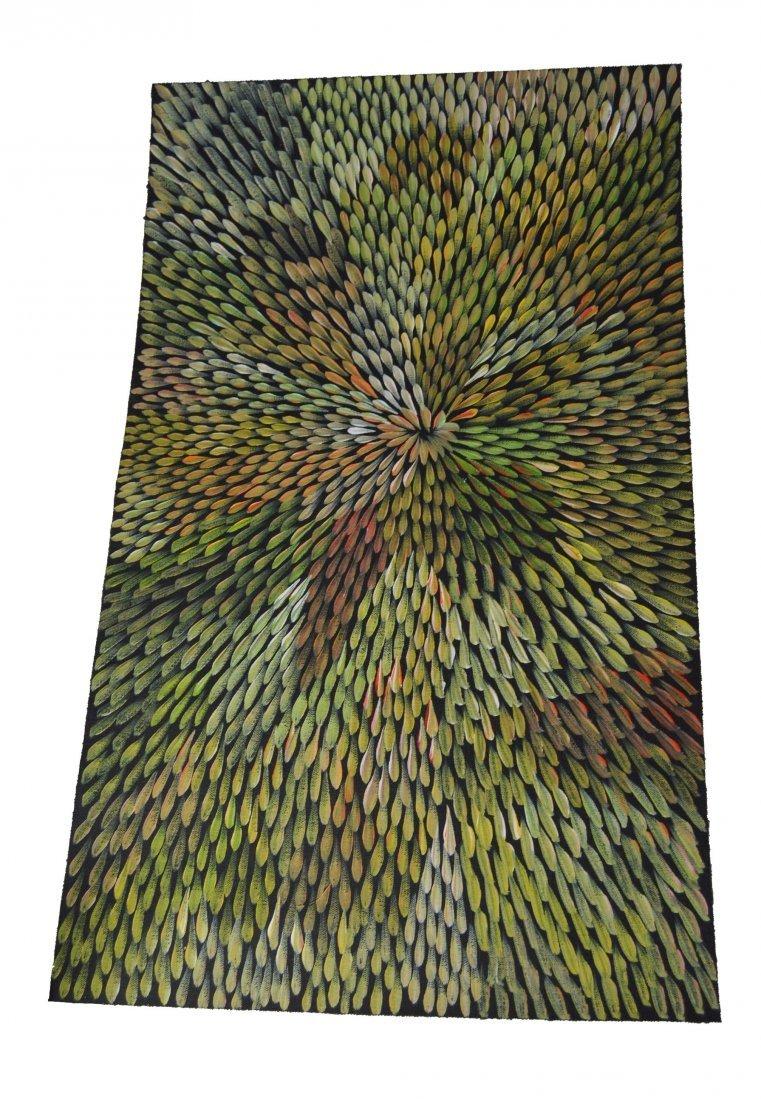 Aboriginal painting Bush Leaf Medicine Margaret Scobie