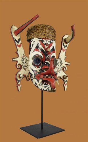 315 Rare Dayak Bidayuh Clan Mask Borneo Mar 01 2009 Rago Arts And Auction Center In Nj