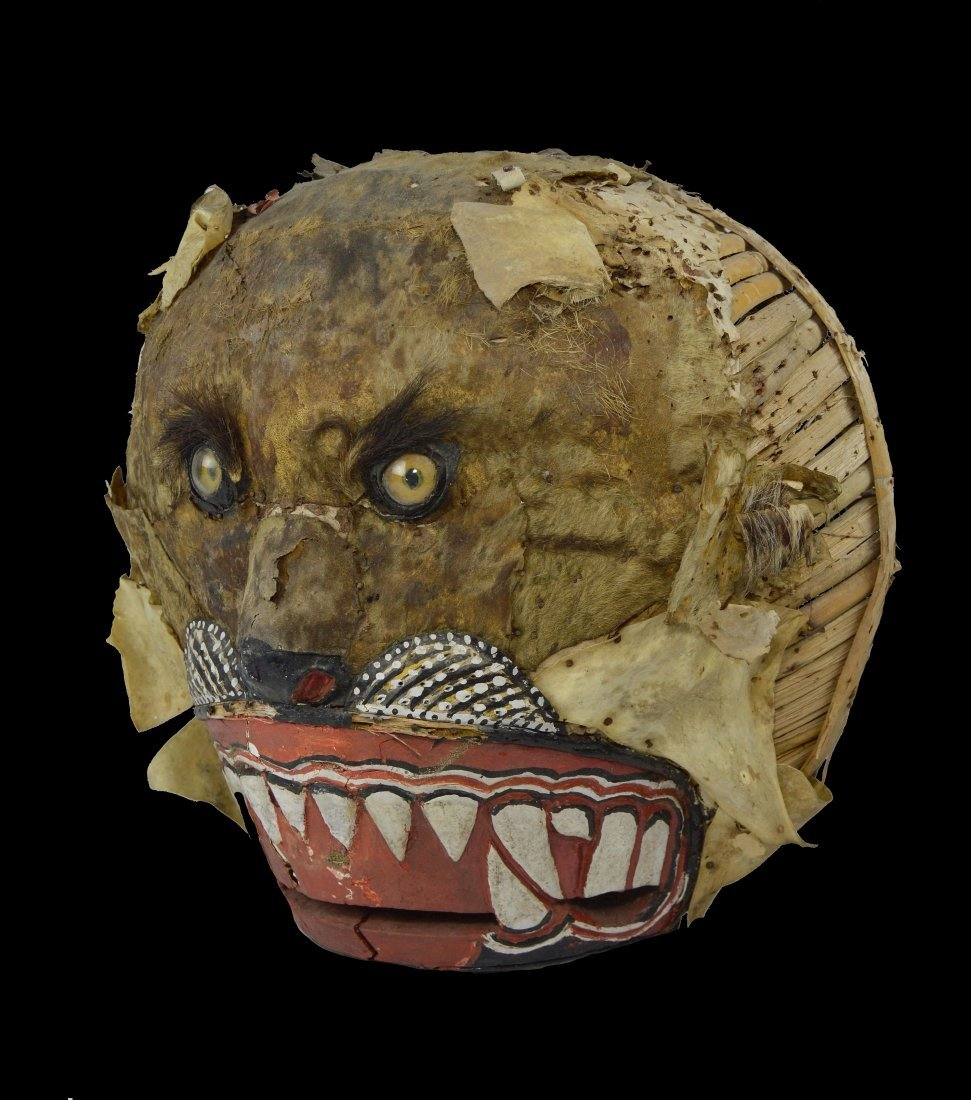 Large and Rare Tiger Festival Mask from Java Indonesia