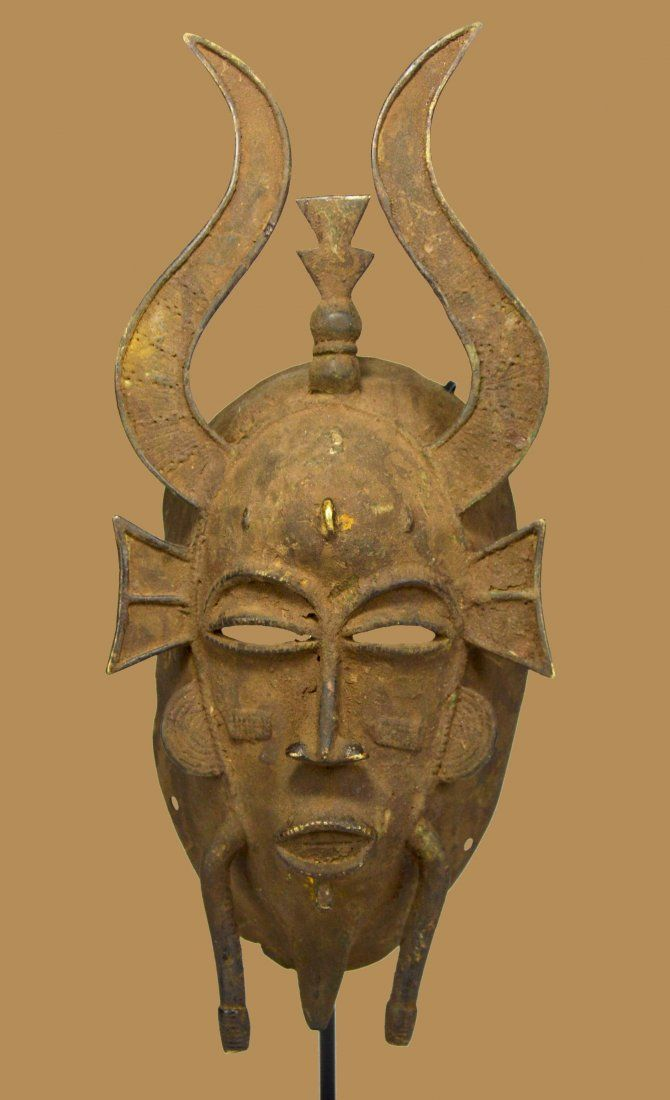 A Senufo Bronze African Mask