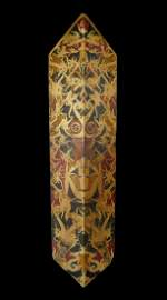 A Fine Dayak Dance Shield with Ornate Designs.