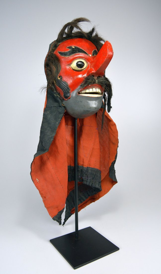 Old Java Topeng Dance mask with Hood
