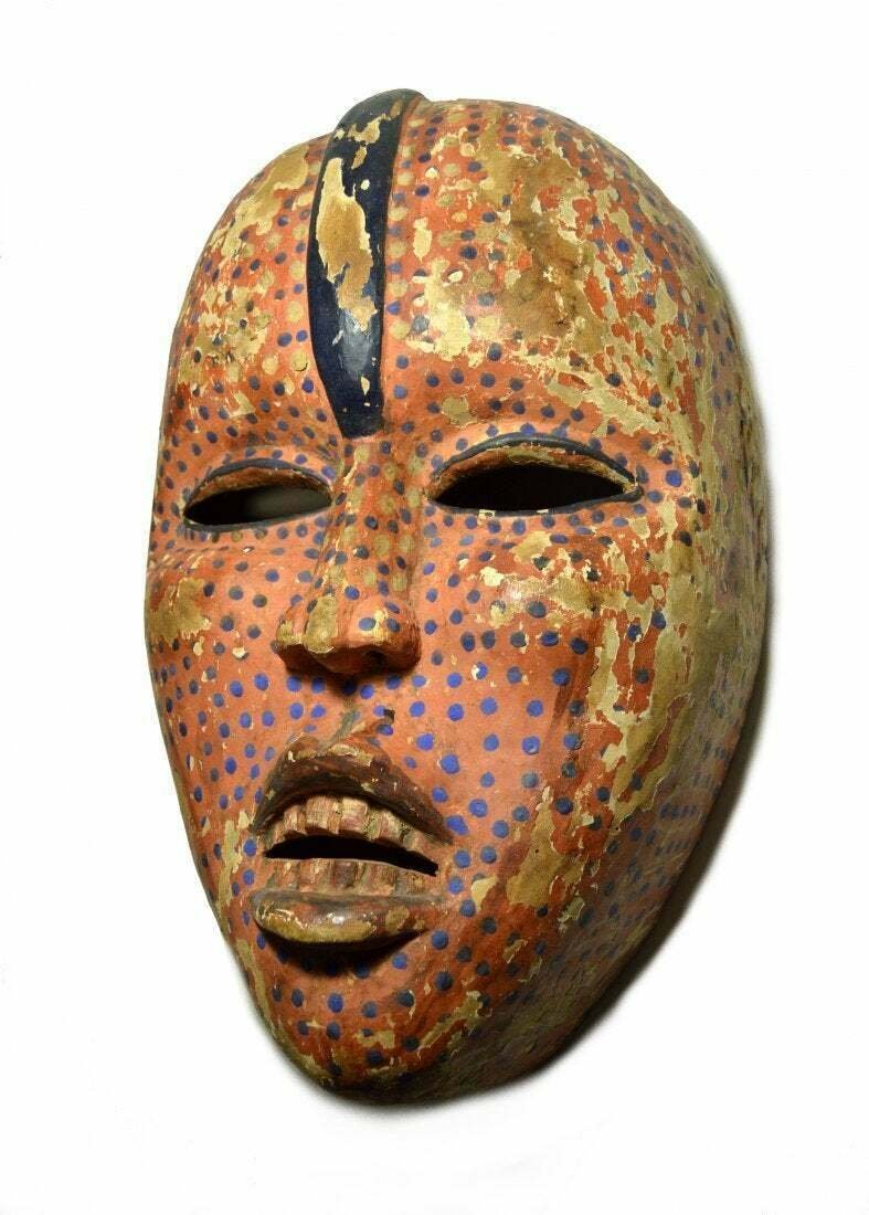Old Kongo Woyo Ndunga Secret Society Dance mask