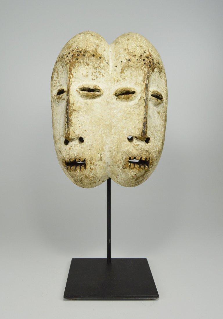 Janus Lega African Mask on Custom display stand
