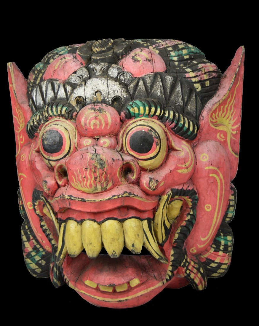 A Large Vintage Protective Demon Mask, Bali, Indonesia