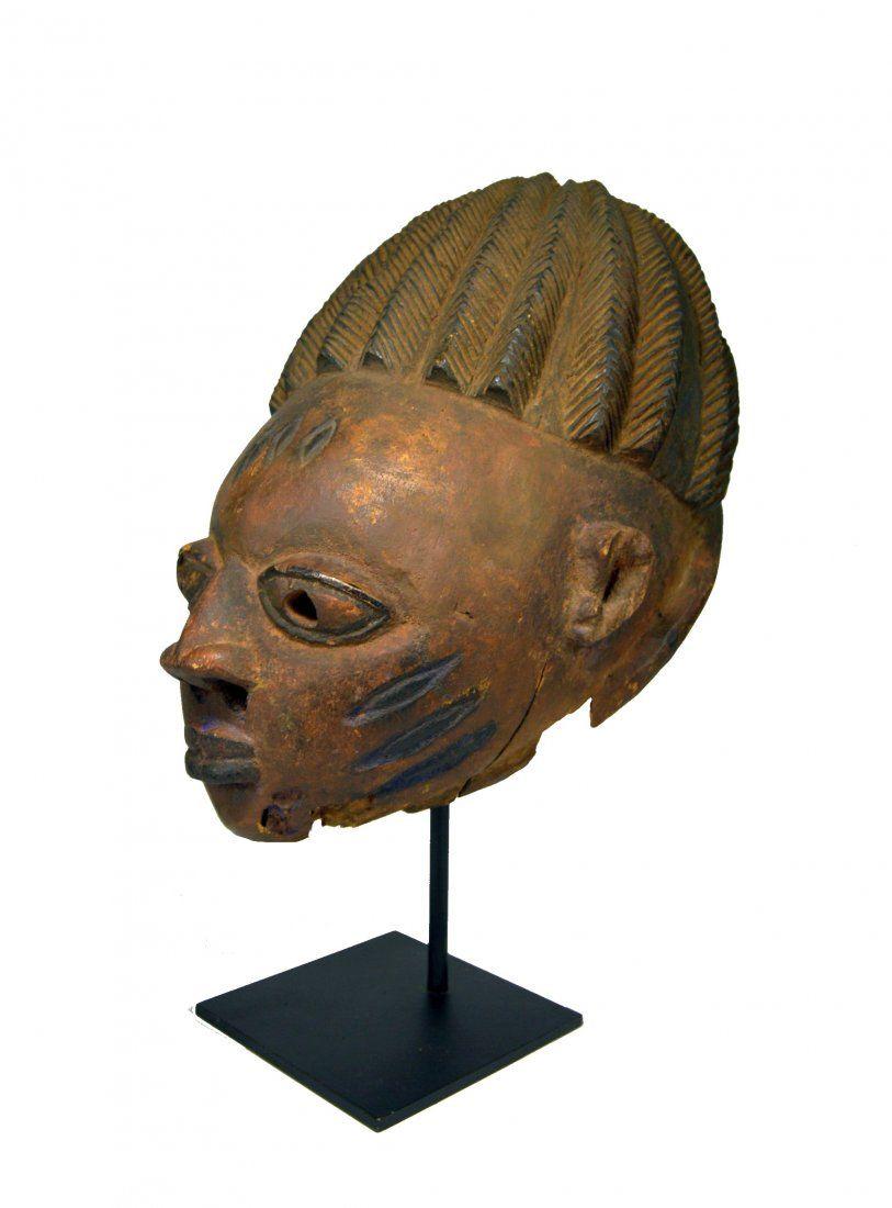 Old Yoruba Gelede African mask Ex Amyas Naegele, NY