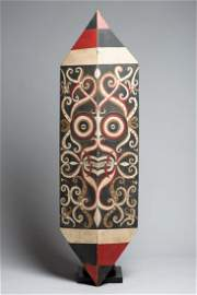 Elaborate Dayak Kenyah Painted Shield, Borneo