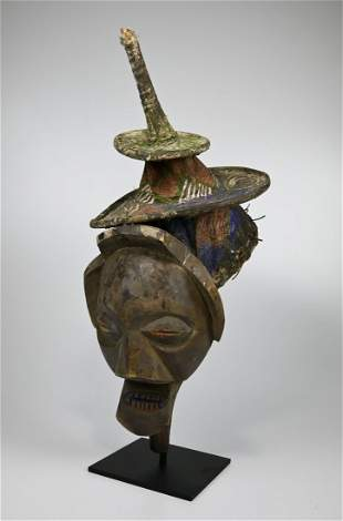 A Yaka Initiation Mask Field Collected 1970's