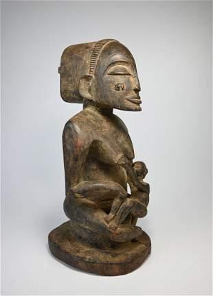 A Fine Luba Maternity sculpture Ex Jean Pierre Hallet