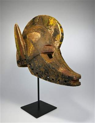 A Very Old Bobo African Mask Ex William Wright Gallery