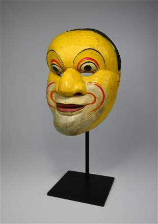 A Vintage Dance Theatre mask from Java, Indonesia.