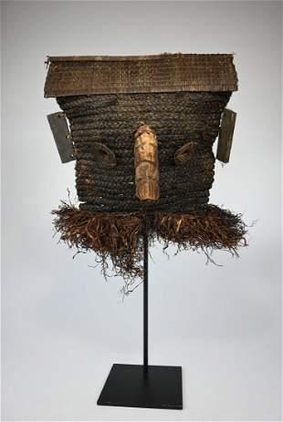 A Rare Binji Fiber Mask Ex Jean Pierre Hallet