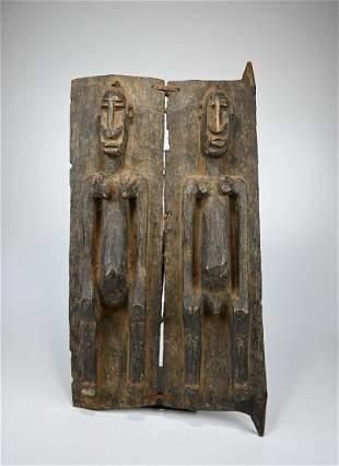 A Dogon Granary Door with ancestor motifs, African Art