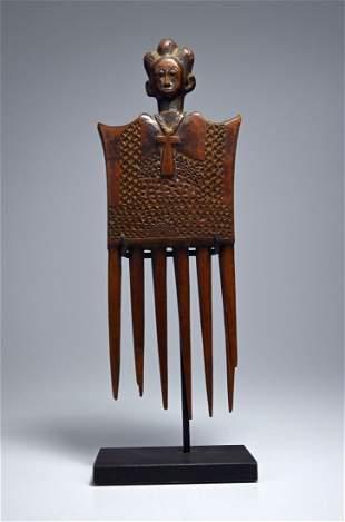 A Fine Baule African Comb ex Dorothy Brill Robbins