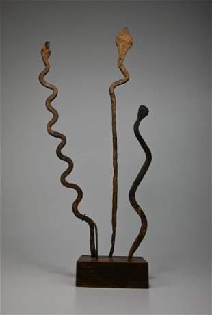 Three Lobi Iron Snakes Ex Eric Robertson 1989