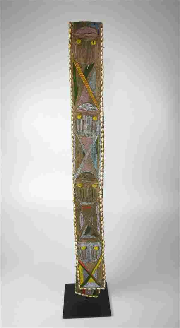Long Yoruba Beaded Staff Sheath Collected in situ 1965