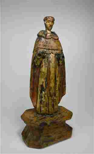 Antique Santos sculpture of Saint from the Philippines