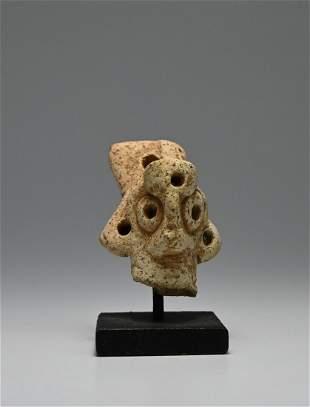 Ancient Syrian Clay Goddess Head fragment 1700 BC
