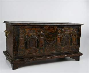Old Wooden Dowry Chest from Java, Indonesia