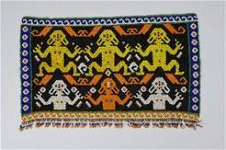 A Fine Dayak Beaded Skirt Panel, Indonesian Tribal Art