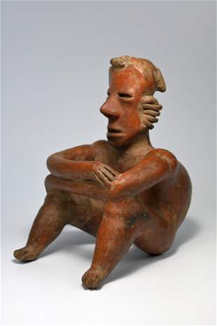 A Nayarit Seated Pre-Columbian Sculpture 200 BC