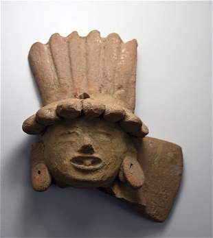 Ancient Vera Cruz Head Fragment 600-900 AD