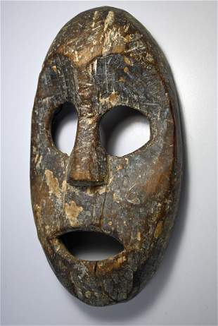 Rare Old Lega African Mask Ex Davis Gallery New Orleans