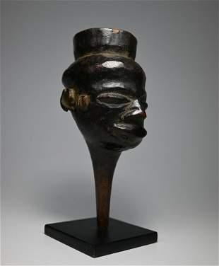 Rare Figural Kuba Clyster Enema Tube Ex Charles Jones