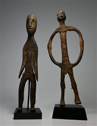 Pair of Iron Shrine Figures from the Dogon Ex Dr. Healy
