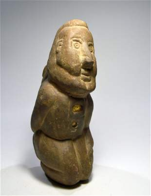 Rare Ancient Pre-Columbian Stone Idol collected 1915