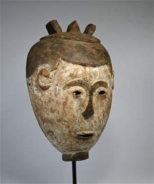 Extremely Rare Eastern Luba mask Ex- Jean Pierre Hallet