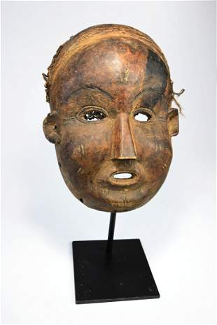 Rare Field Collected Lovale African mask 1988