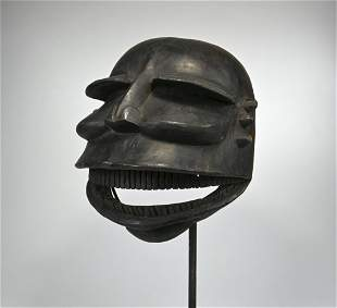 Exceptional Early 20th Century Ibibio mask Ex Levitt NY