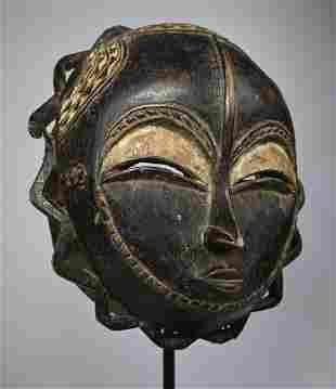 A Baule Moon African Mask Ex Evan Maurer Collection