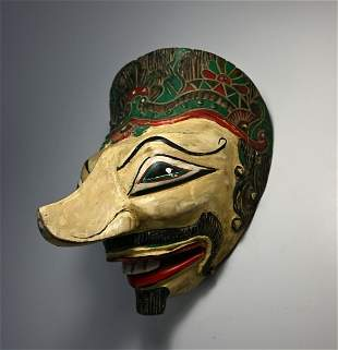 A Topeng Dance mask with Long Nose from Java