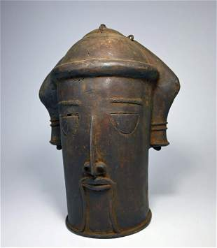 A Yoruba Bronze Memorial Head, African Art