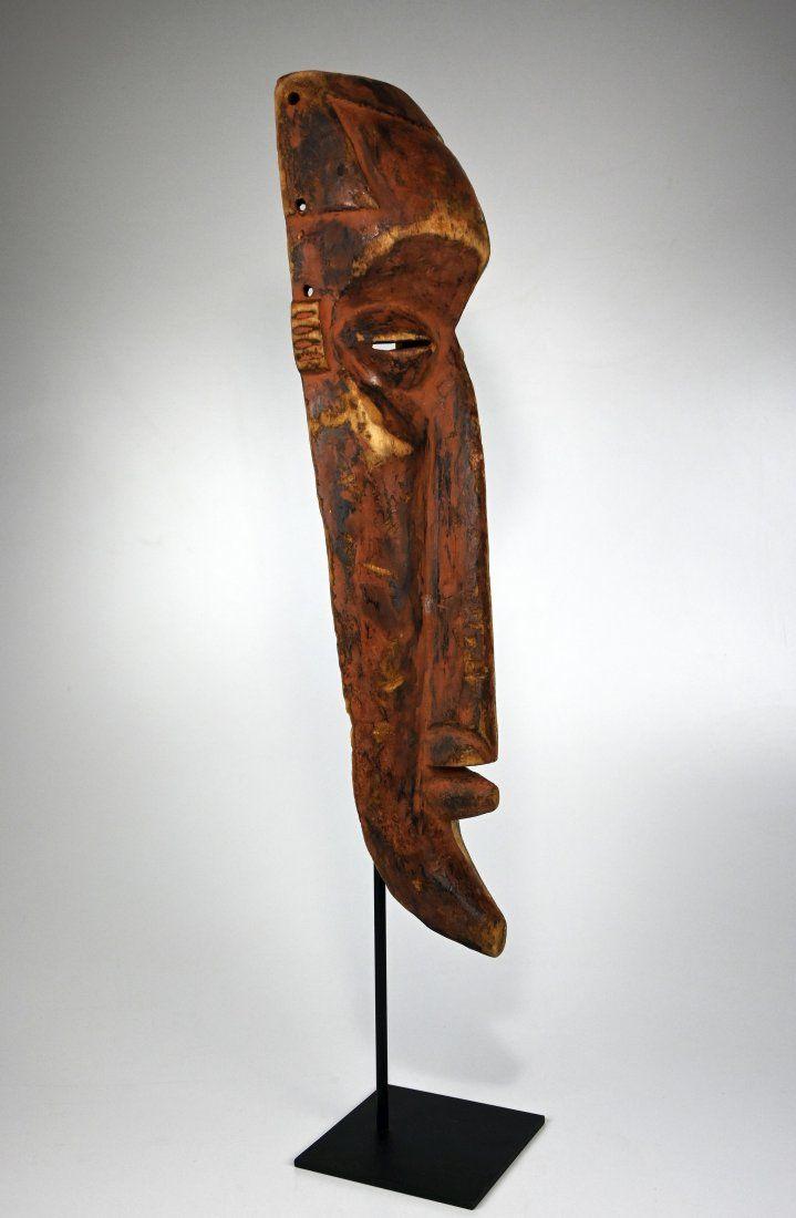 Rare Kuba Ngeende Nyibita Elongated African Mask