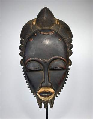 A Very Fine Baule Portrait Mask, African Art