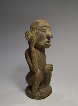 Antique Naga Thinker Sculpture Ex Museum Collected 1970