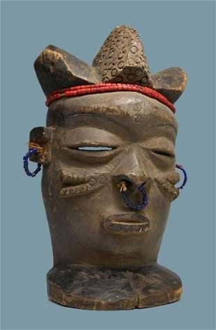 A Chokwe Spirit Of Wealth Mask