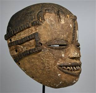 A Rare Old Idoma African Mask