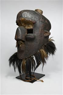 Rare Old Kuba Binji Mask Ex Allan Stone Collection
