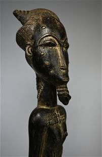 A Very Fine Old Baule Male Spirit Husband, African Art