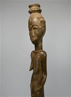 A Very Fine Old Baule Female Spirit Wife, African Art
